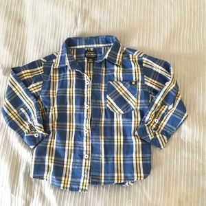 dceff99ae2a0 Lucky Brand Plaid Shirt Size 24M